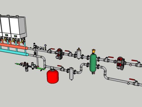 04 – CT con 4 caldaie modulari e regolazione climatica interna (senza produzione ACS)