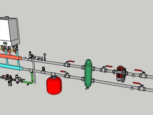 05 – CT con due moduli termici e regolazione climatica interna (senza produzione ACS)