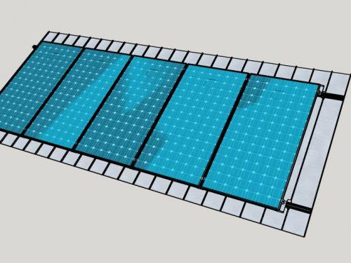 Campo Fotovoltaico su lamiera aggraffata