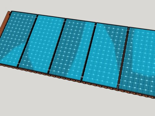 Campo Fotovoltaico su lamiera grecata