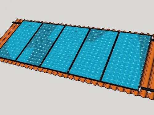 Campo Fotovoltaico su copertura in ondulato