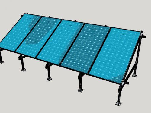 Campo Fotovoltaico su solaio in piano