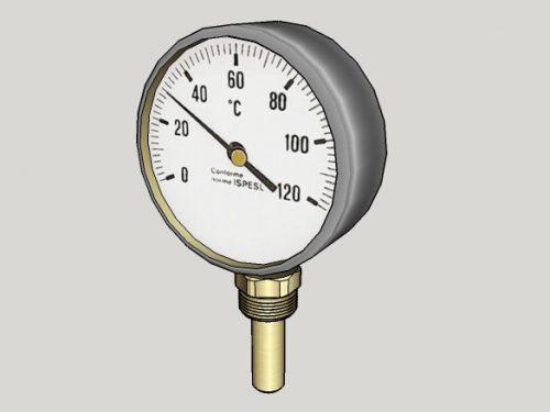 Termometro a quadrante.