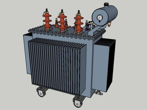Trasformatore MT/BT in olio con conservatore.
